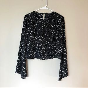 F21 Polka Dot Bell Sleeve Blouse